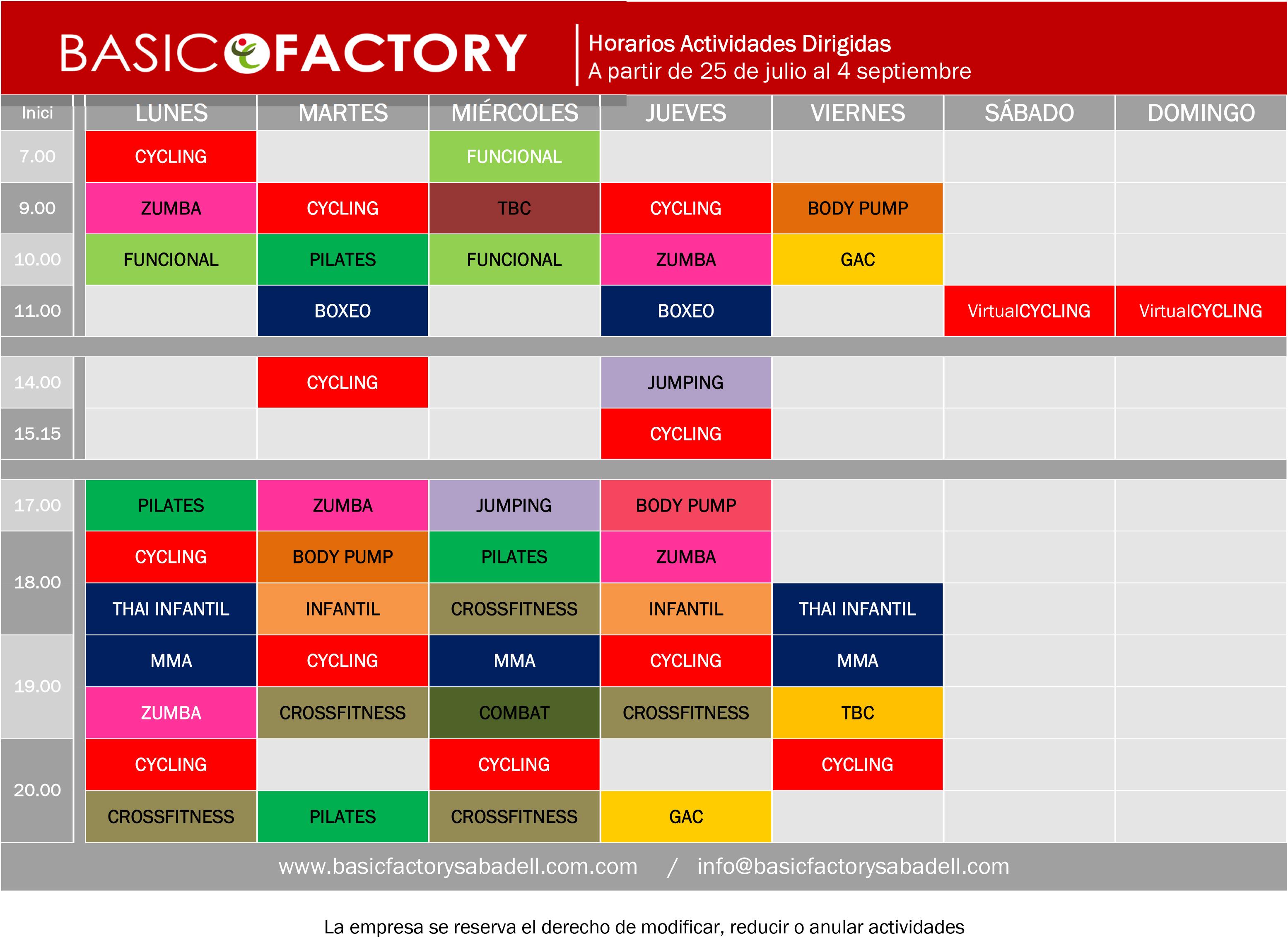 Basic factory sabadell a dirigidas verano 16 for Horario bricomart sabadell