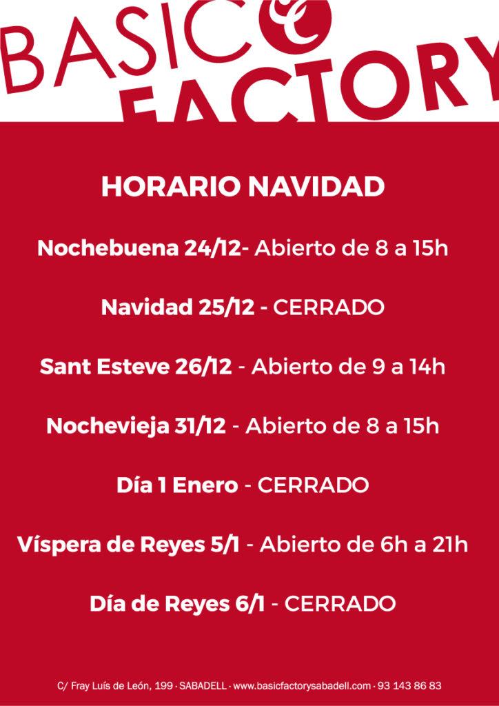 Basic factory sabadell horario navidad for Horario bricomart sabadell